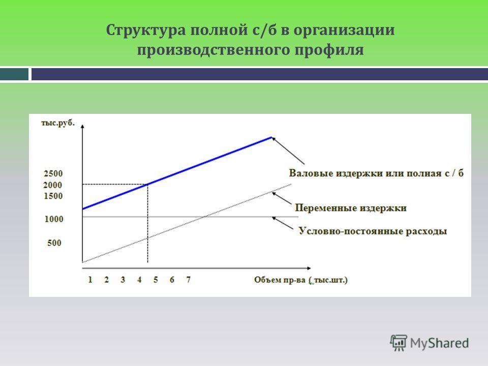 Структура полной с/б в организации производственного профиля