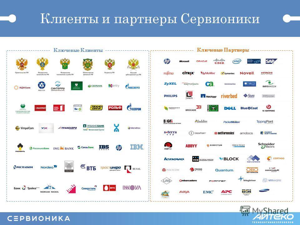 Клиенты и партнеры Сервионики Ключевые Клиенты Ключевые Партнеры