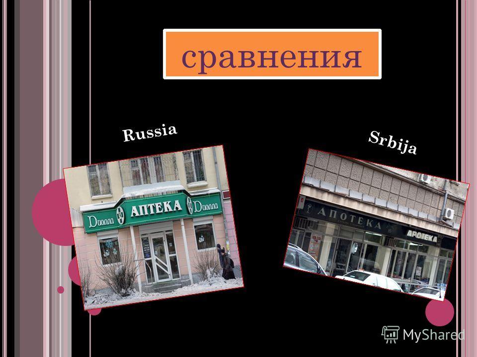 сравнения Russia Srbija