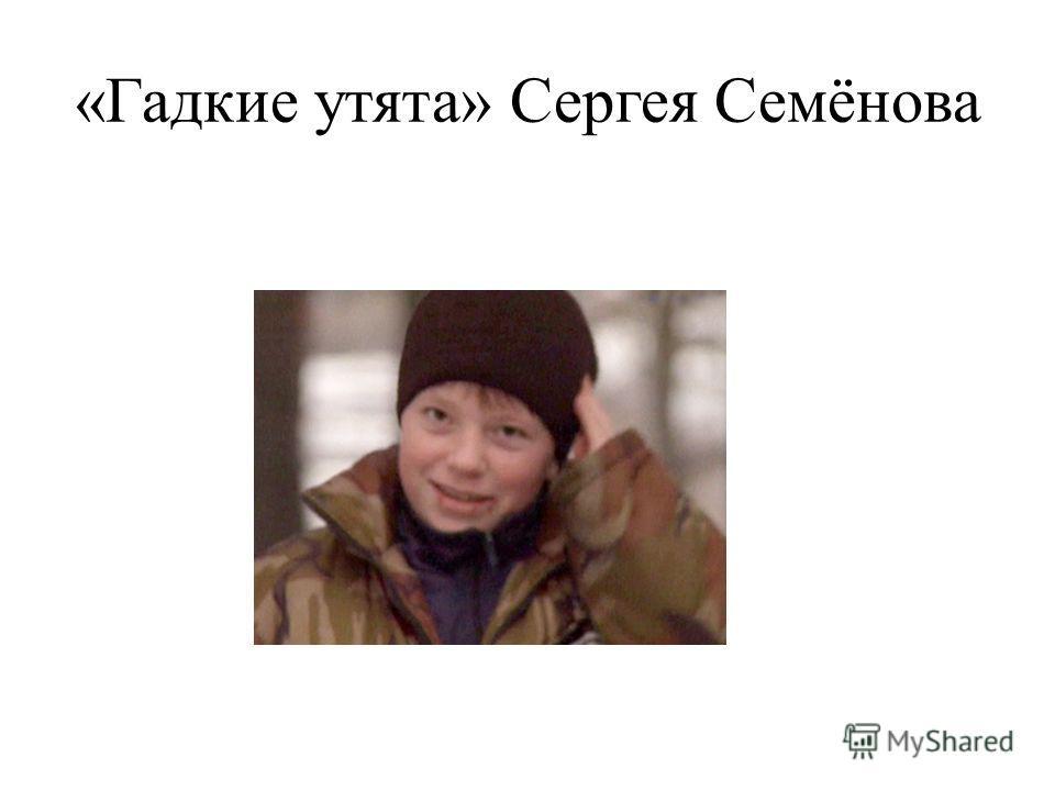 «Гадкие утята» Сергея Семёнова