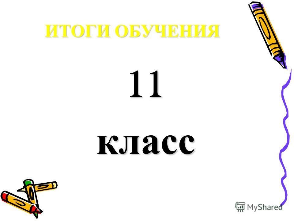 ИТОГИ ОБУЧЕНИЯ 11 класс