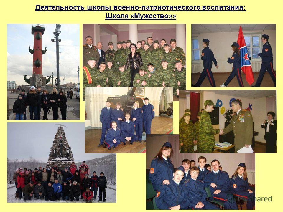 Деятельность школы военно-патриотического воспитания: Школа «Мужество»»
