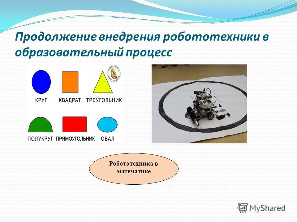 Продолжение внедрения робототехники в образовательный процесс Робототехника в математике