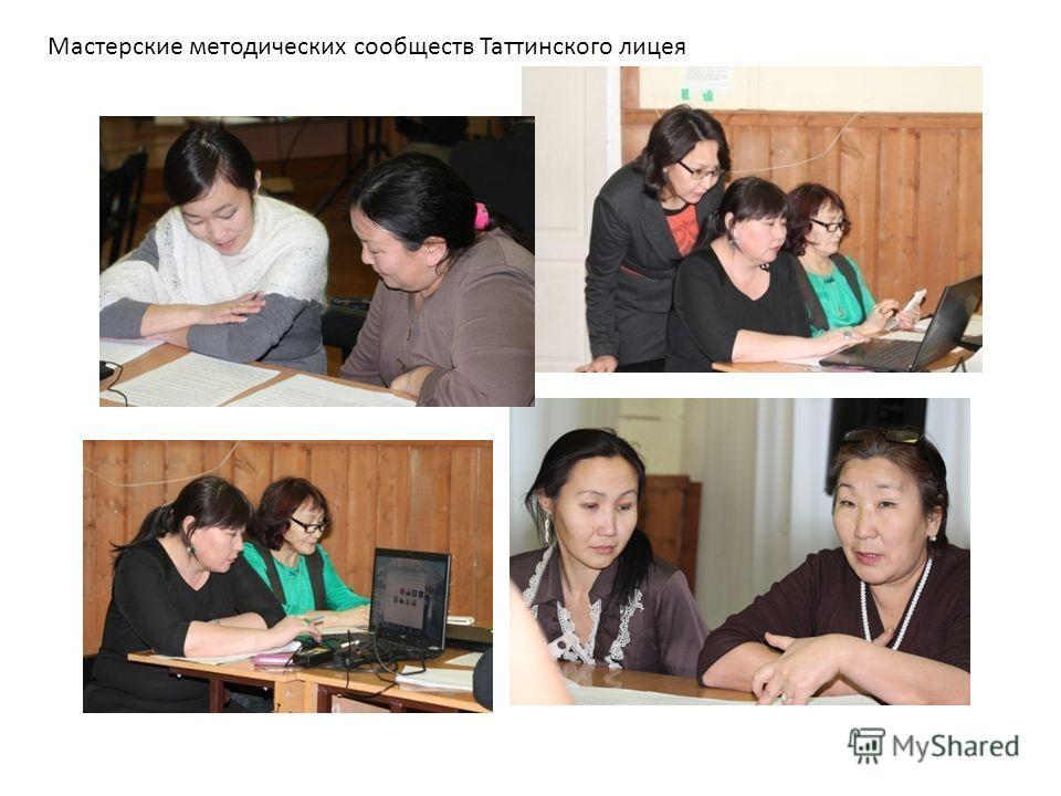 Мастерские методических сообществ Таттинского лицея