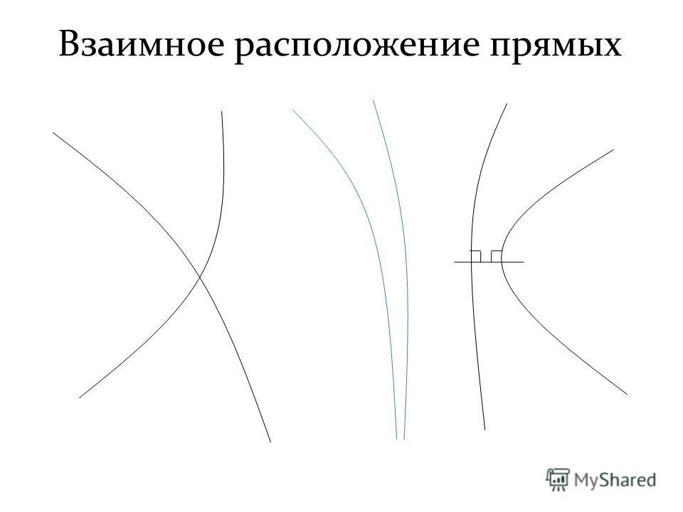 Взаимное расположение прямых