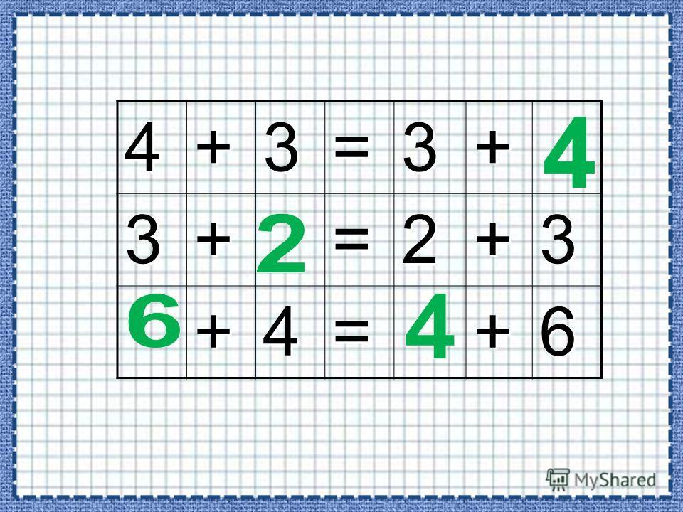 1+2=3 2+1=3 3+2=52+3=5