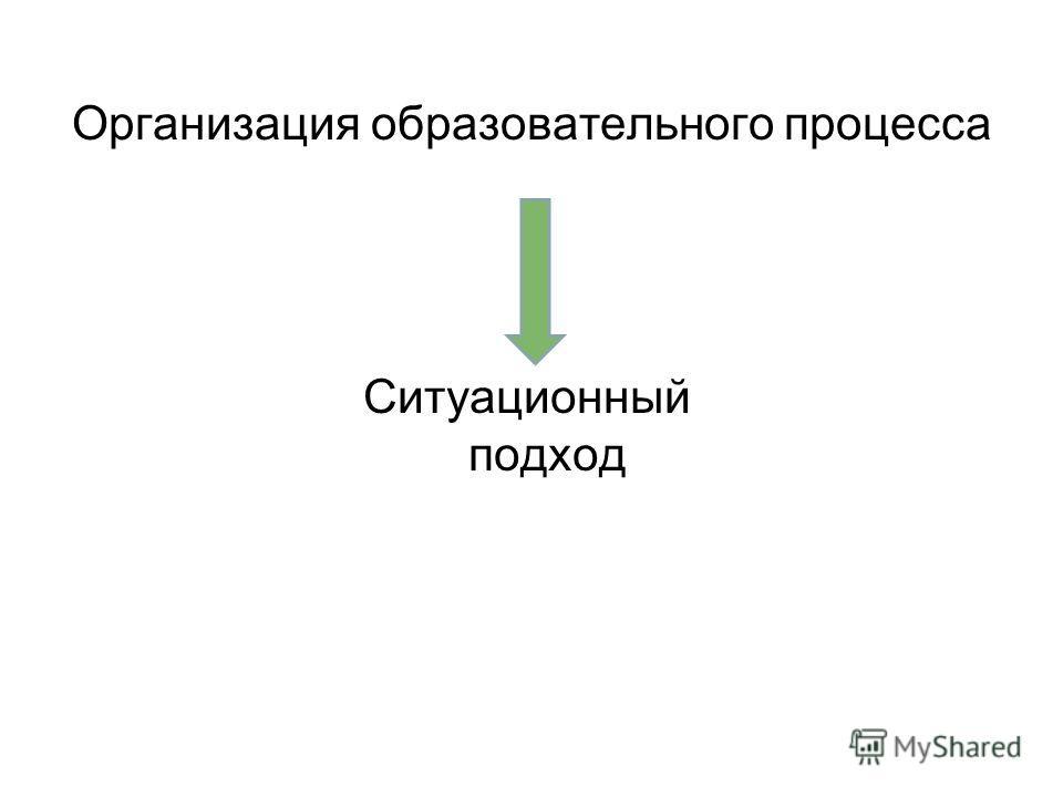 Организация образовательного процесса Ситуационный подход