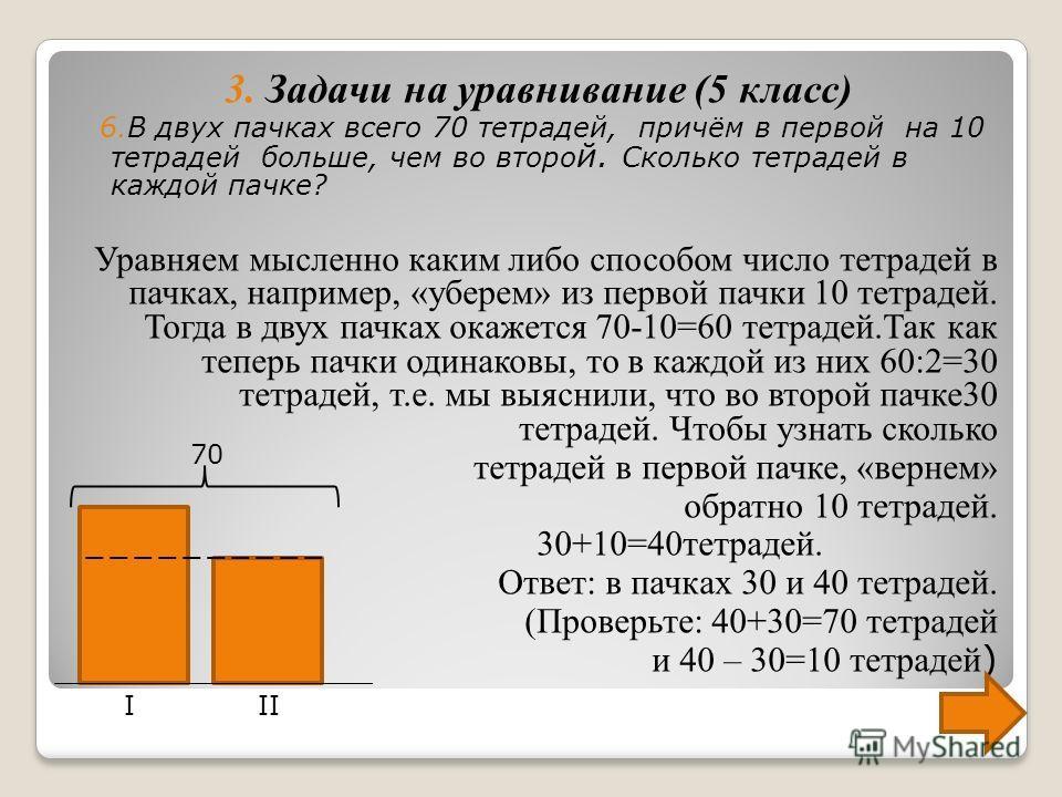 Всего на 20 кг конфет приходится 1+3=4(части) На одну часть приходится 20:4=5(кг), тогда на 3 части приходится 5 3=15(кг) Итак, было куплено 5 кг шоколадных конфет и 15 кг карамели (Проверьте: 15 кг и 5 кг составляют вместе 20 кг, и 15 кг в три раза