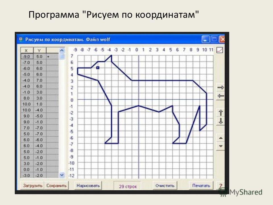 Программа Рисуем по координатам