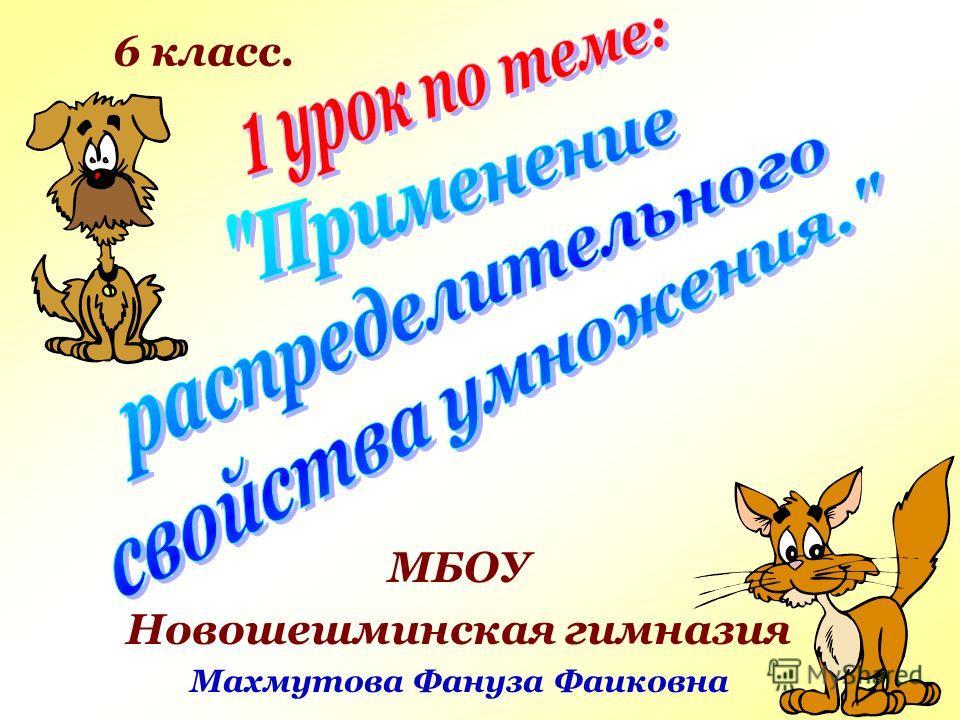 МБОУ Новошешминская гимназия Махмутова Фануза Фаиковна 6 класс.