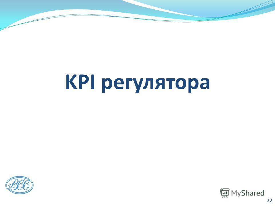 KPI регулятора 22