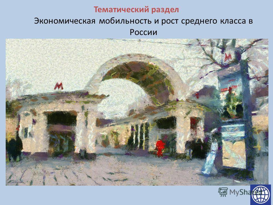 Тематический раздел Экономическая мобильность и рост среднего класса в России