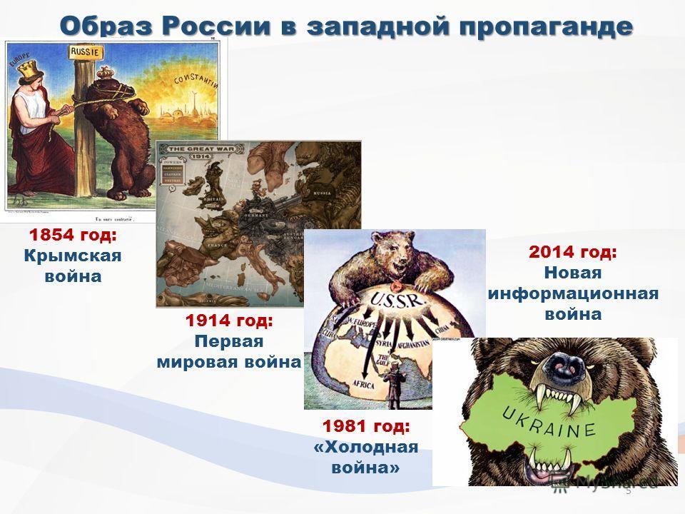 Образ России в западной пропаганде 1854 год: Крымская война 1914 год: Первая мировая война 1981 год: «Холодная война» 2014 год: Новая информационная война 5