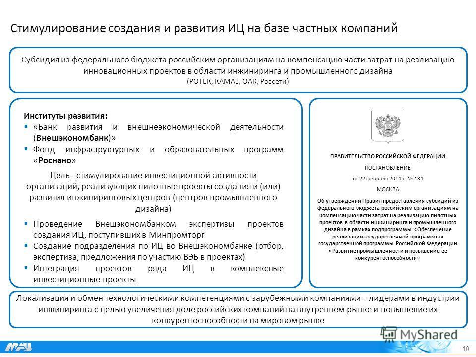 Субсидия из федерального бюджета российским организациям на компенсацию части затрат на реализацию инновационных проектов в области инжиниринга и промышленного дизайна (РОТЕК, КАМАЗ, ОАК, Россети) Локализация и обмен технологическими компетенциями с