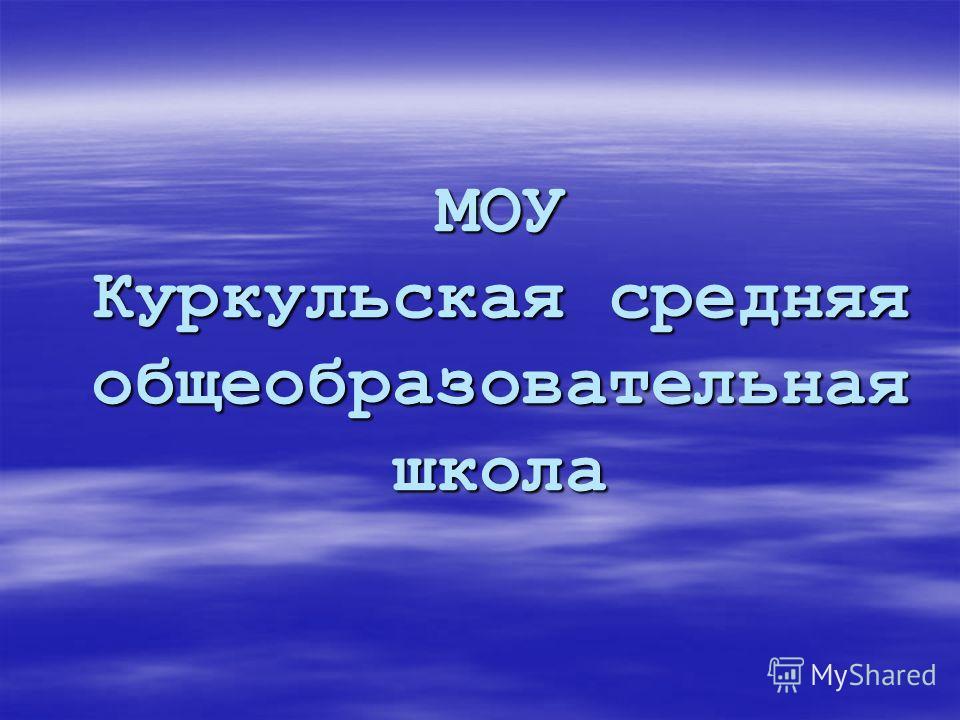 МОУ Куркульская средняя общеобразовательная школа