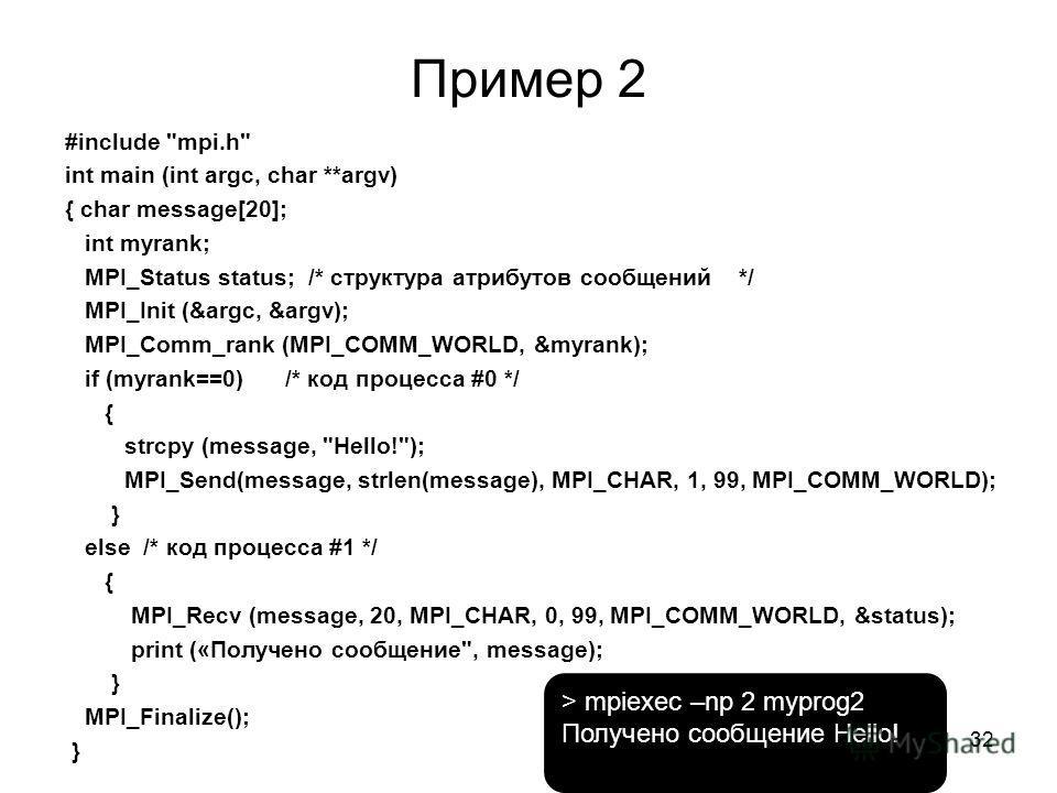 Пример 2 #include