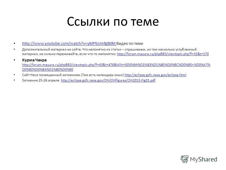 Ссылки по теме http://www.youtube.com/watch?v=yMPbUmfgB0M Видео по теме http://www.youtube.com/watch?v=yMPbUmfgB0M Дополнительный материал на сайте. Что непонятно из статьи – спрашиваем, но там несколько углубленный материал, не сильно переживайте, е