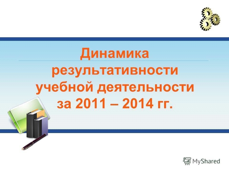 Динамика результативности учебной деятельности за 2011 – 2014 гг.