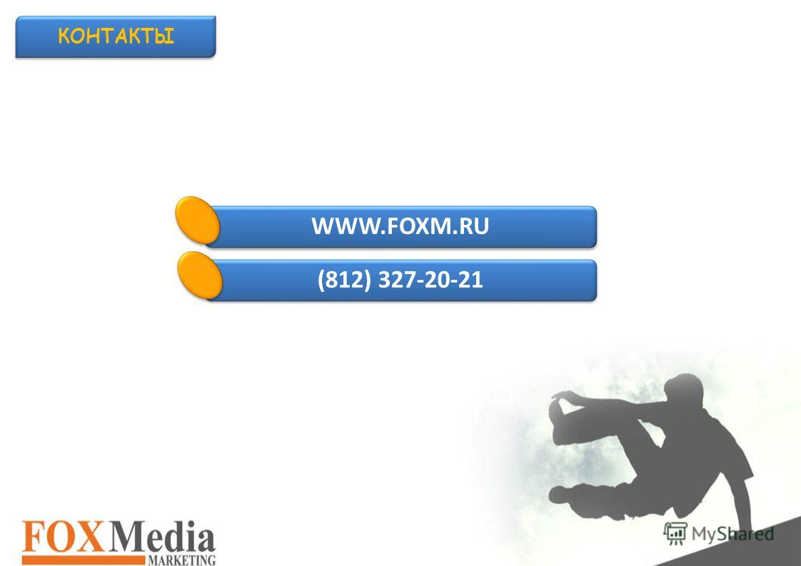 КОНТАКТЫ WWW.FOXM.RU (812) 327-20-21