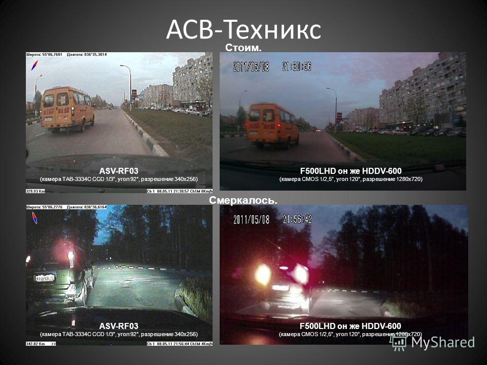 F500LHD он же HDDV-600 (камера CMOS 1/2,5, угол 120°, разрешение 1280 х 720) ASV-RF03 (камера TAB-3334C CCD 1/3, угол 92°, разрешение 340 х 256) ASV-RF03 (камера TAB-3334C CCD 1/3, угол 92°, разрешение 340 х 256) F500LHD он же HDDV-600 (камера CMOS 1