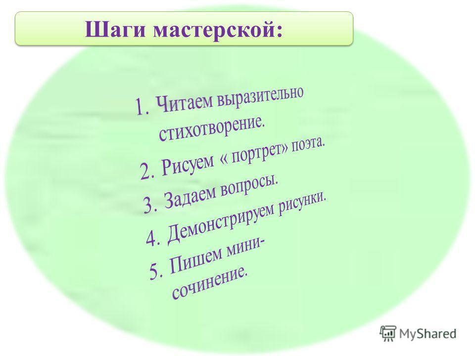 Шаги мастерской: