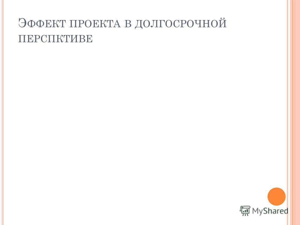 Э ФФЕКТ ПРОЕКТА В ДОЛГОСРОЧНОЙ ПЕРСПКТИВЕ