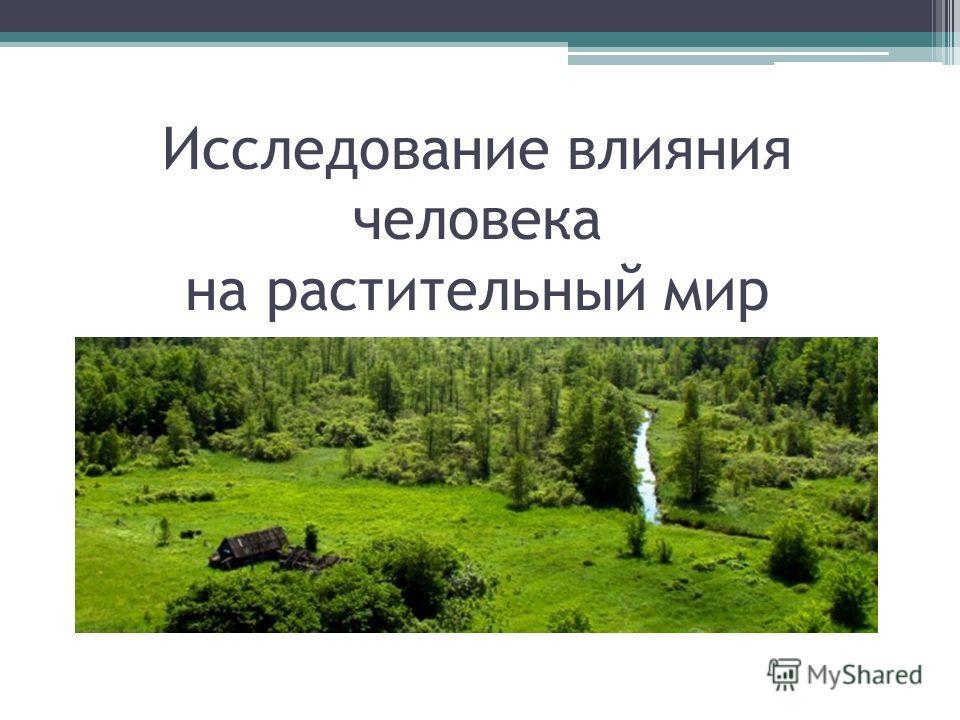 Экологические последствия воздействия человека на растительный мир реферат 2798