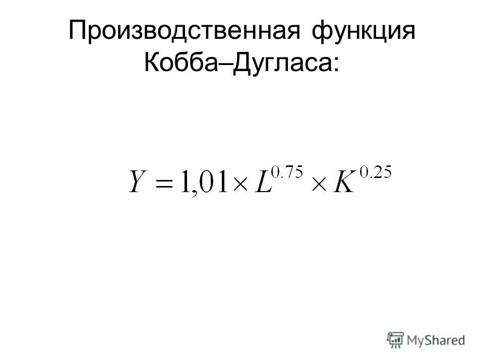 Производственная функция Кобба–Дугласа:
