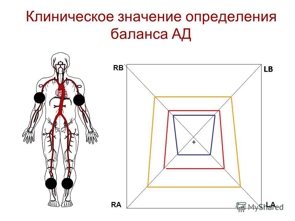 Клиническое значение определения баланса АД LB RB RALA +