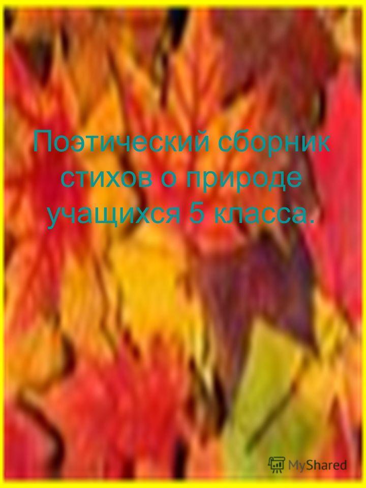 Поэтический сборник стихов о природе учащихся 5 класса.