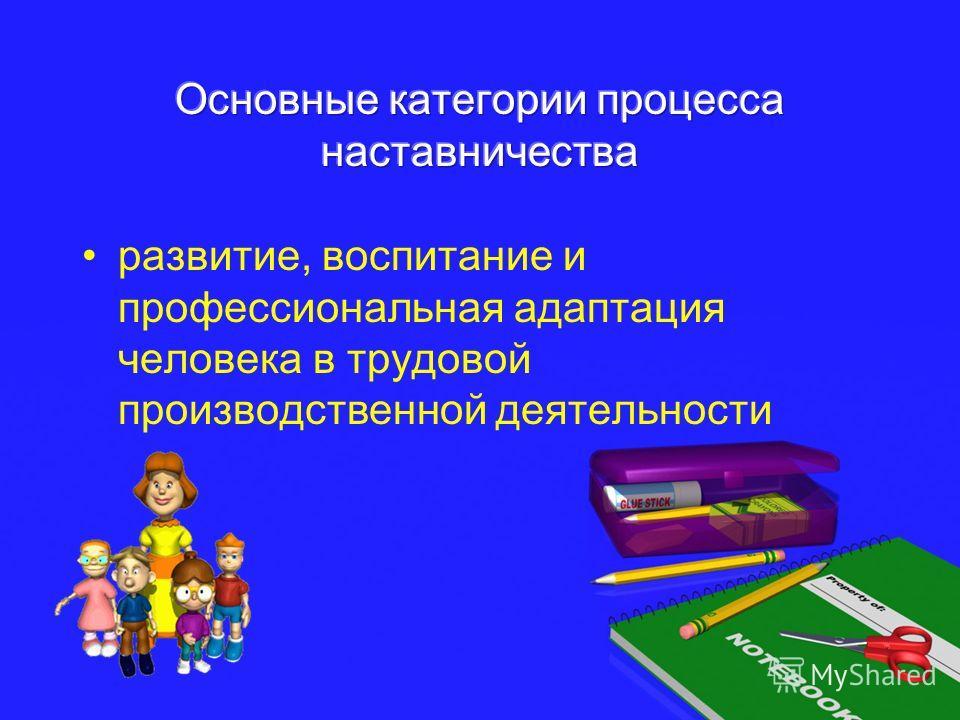 развитие, воспитание и профессиональная адаптация человека в трудовой производственной деятельности