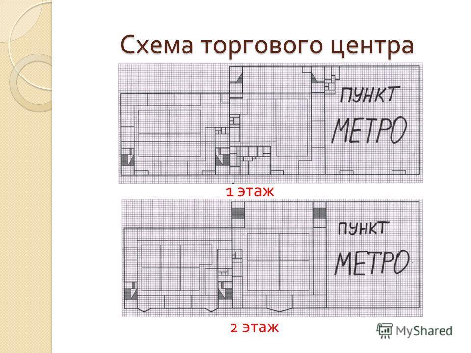 Схема торгового центра 1 этаж 2 этаж