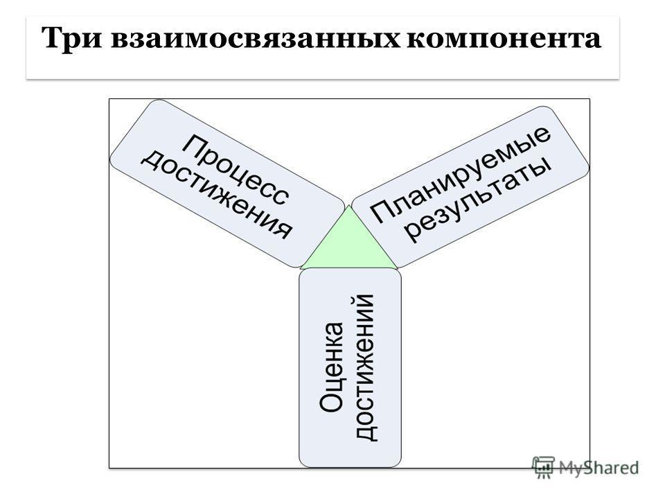 Три взаимосвязанных компонента