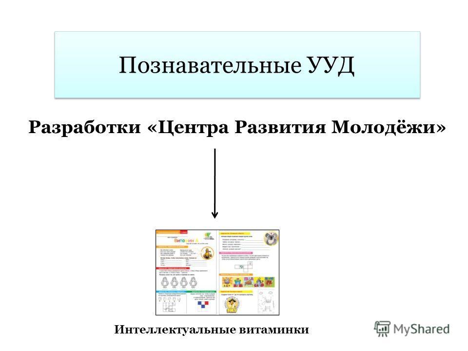 Познавательные УУД Разработки «Центра Развития Молодёжи» Интеллектуальные витаминки