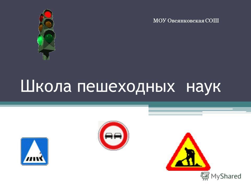 Школа пешеходных наук МОУ Овсянковская СОШ