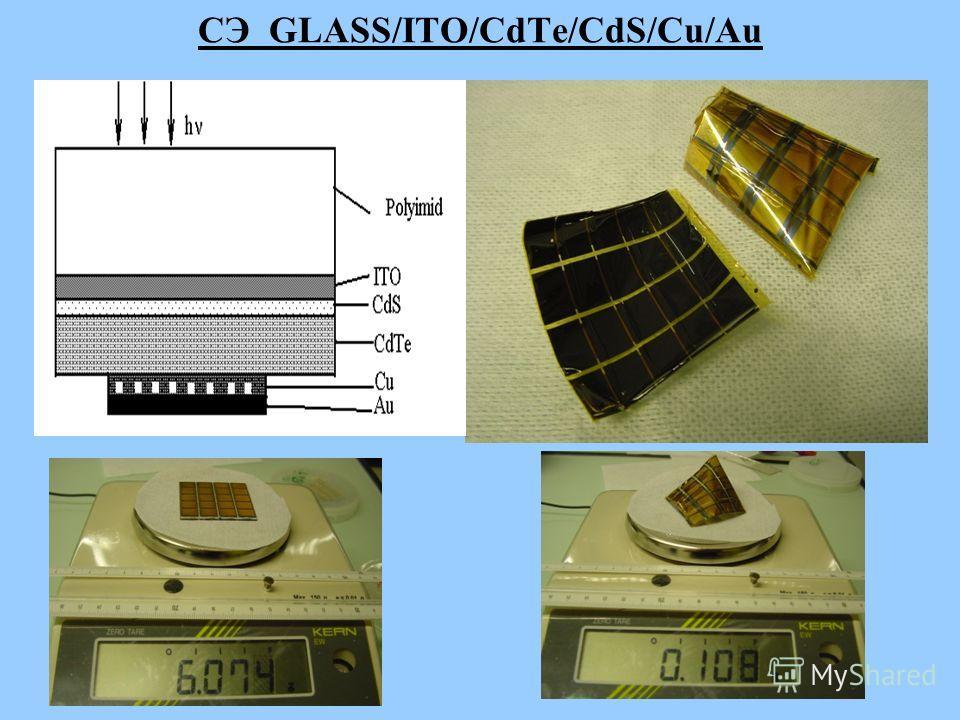 СЭ GLASS/ITO/CdTe/CdS/Cu/Au