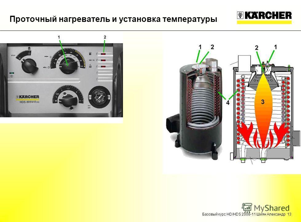 Базовый курс HD/HDS 2008-11 Шиян Александр 13 Проточный нагреватель и установка температуры