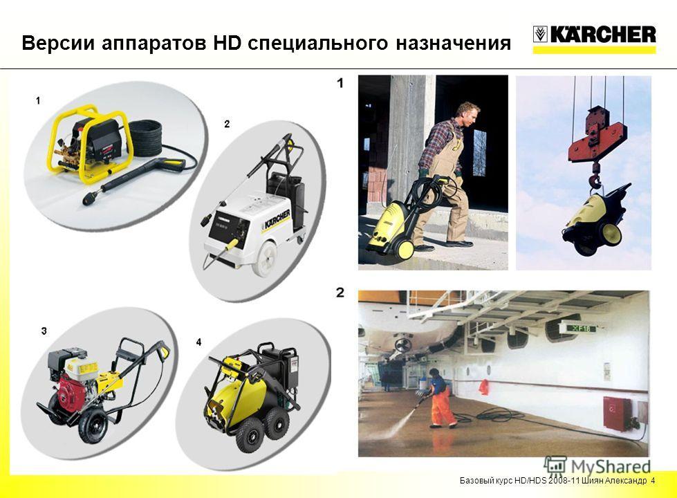 Базовый курс HD/HDS 2008-11 Шиян Александр 4 Версии аппаратов HD специального назначения