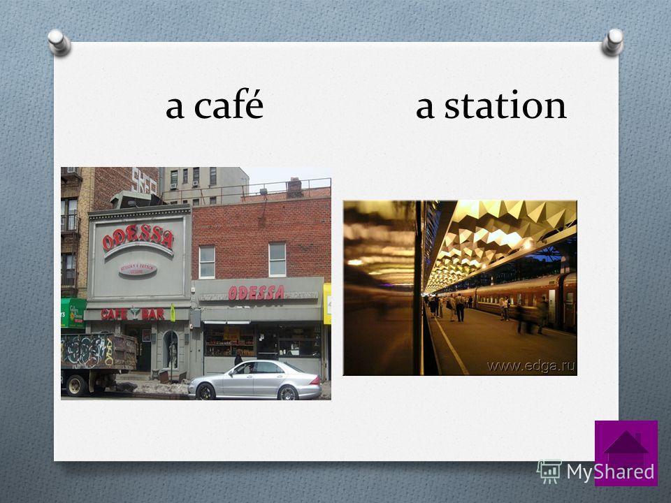 a café a station