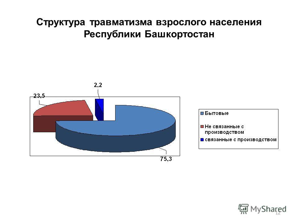 Структура травматизма взрослого населения Республики Башкортостан 12