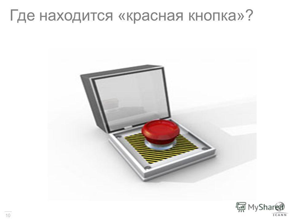 10 Где находится «красная кнопка»?