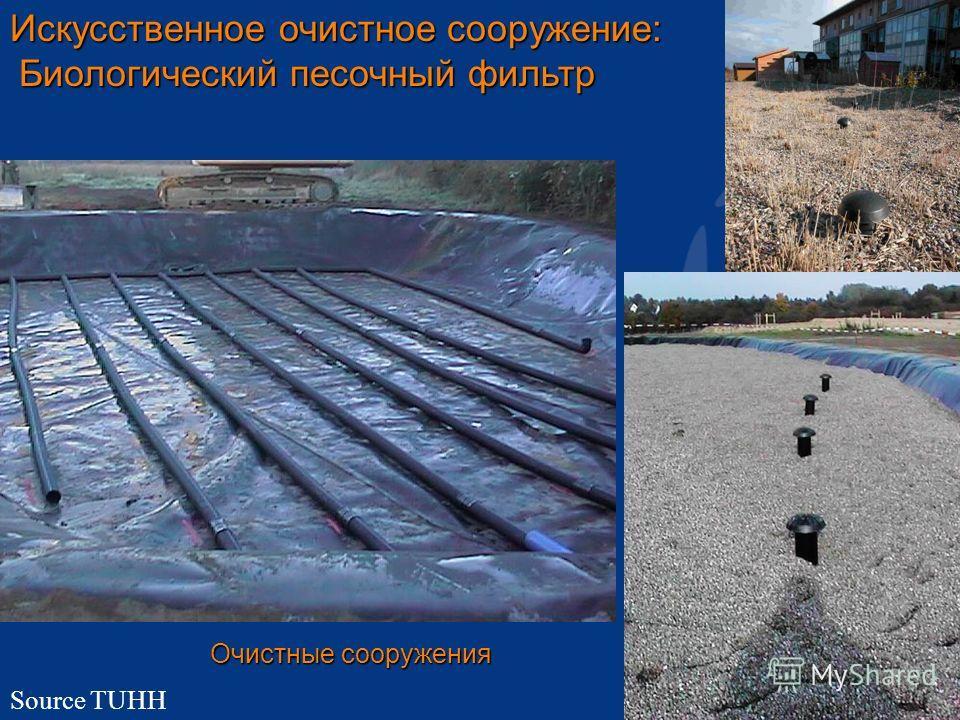 16 Искусственное очистное сооружение: Биологический песочный фильтр Биологический песочный фильтр Очистные сооружения Source TUHH