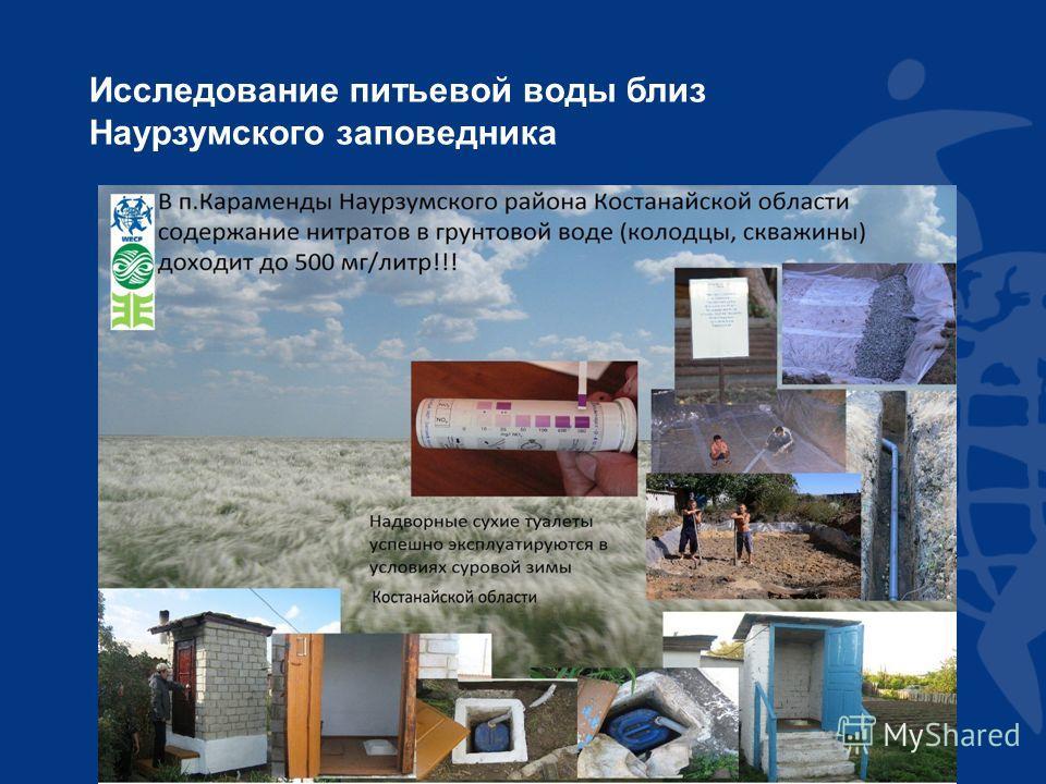 Исследование питьевой воды близ Наурзумского заповедника