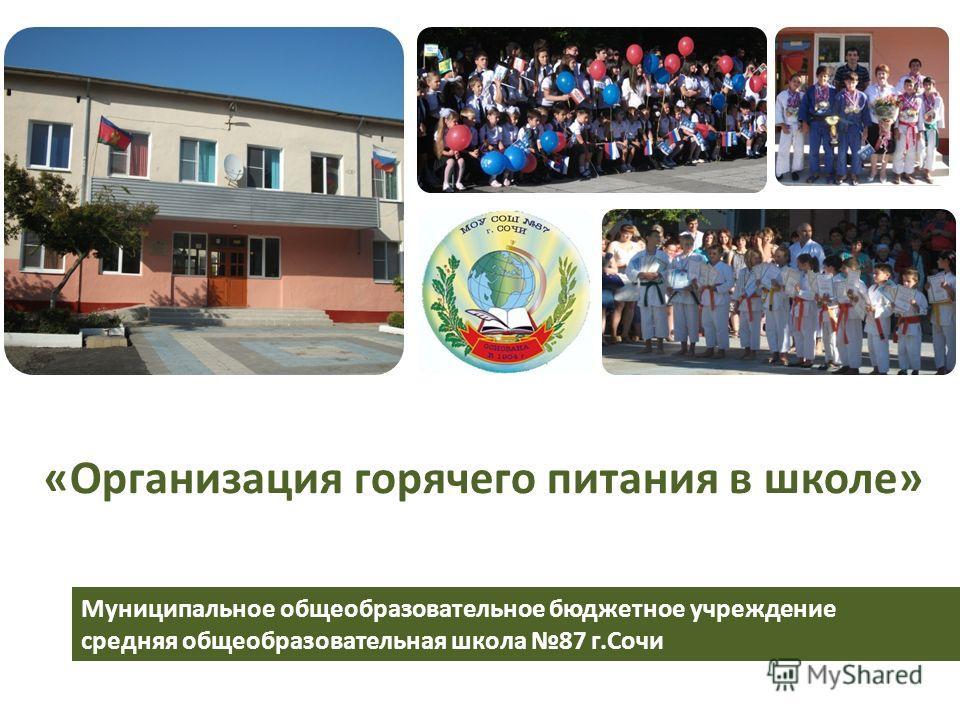 Муниципальное общеобразовательное бюджетное учреждение средняя общеобразовательная школа 87 г.Сочи «Организация горячего питания в школе»