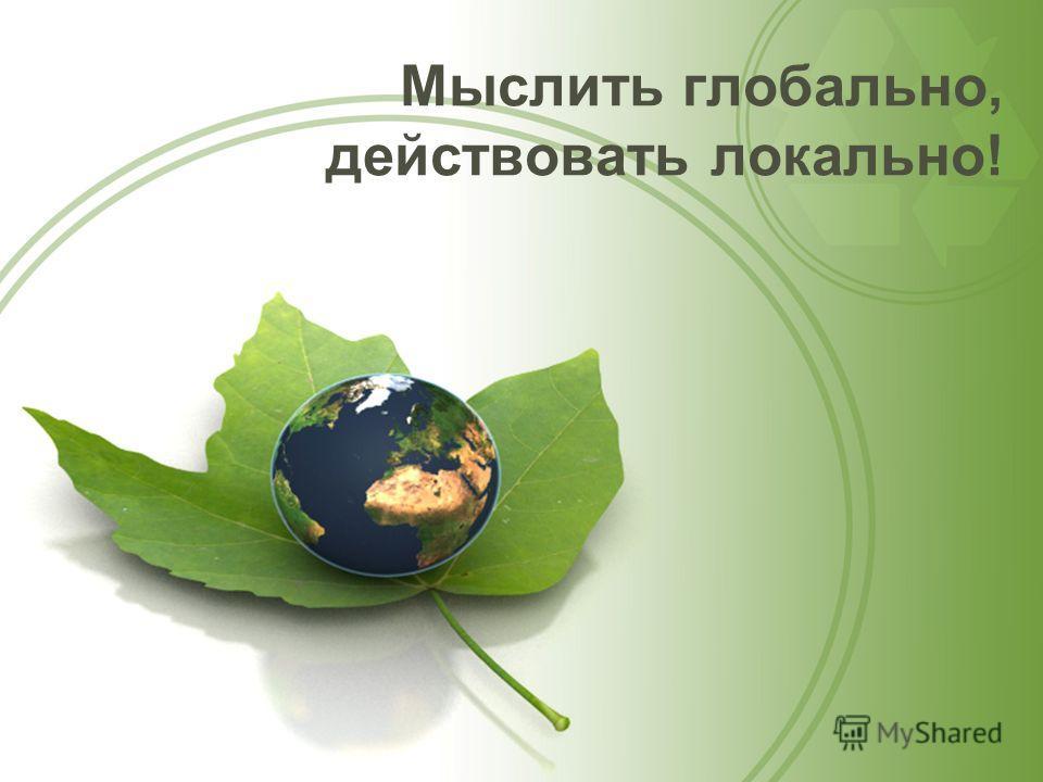 Мыслить глобально, действовать локально!
