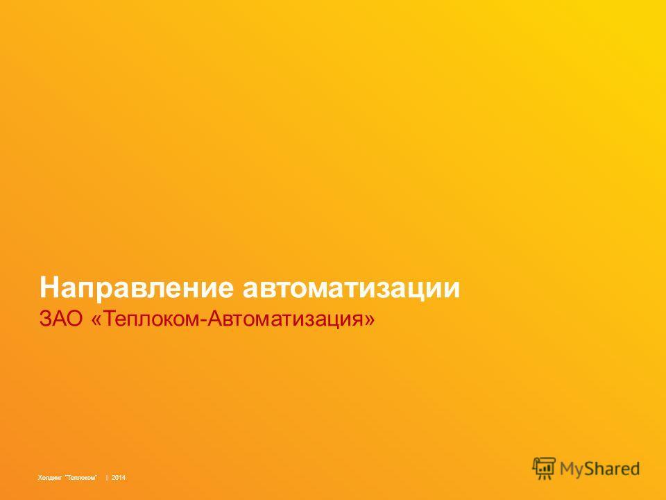 Направление автоматизации ЗАО «Теплоком-Автоматизация» Холдинг Теплоком | 2014