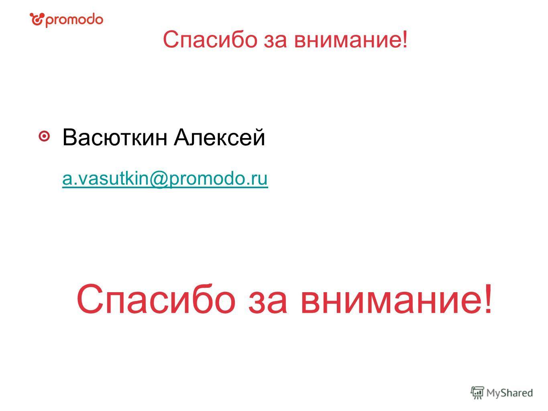 Спасибо за внимание! Васюткин Алексей a.vasutkin@promodo.ru Спасибо за внимание!