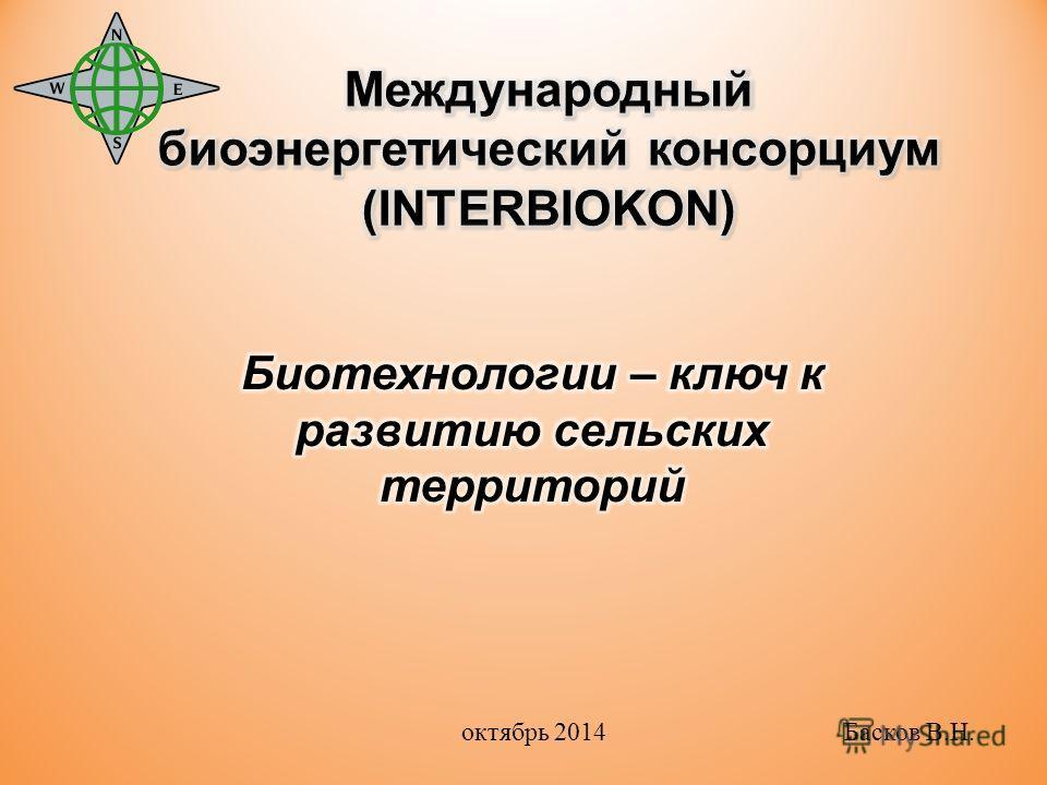 октябрь 2014 Басков В.Н.