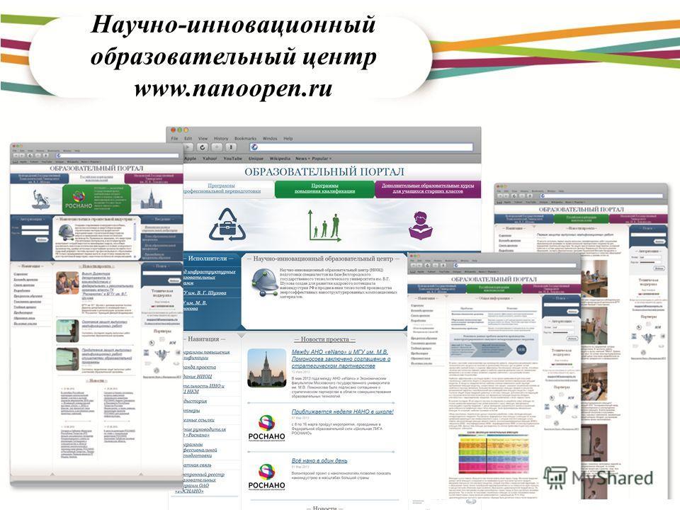Научно-инновационный образовательный центр www.nanoopen.ru
