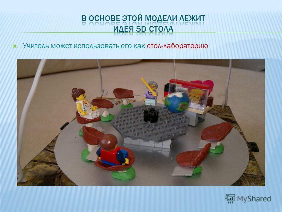 Учитель может использовать его как стол-лабораторию